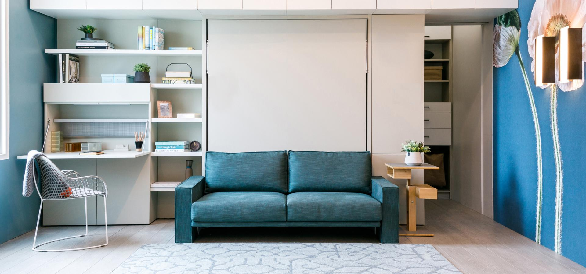 Murphy Bed With Sofa And Bookcase Penelope 2 Sofa Next Clei