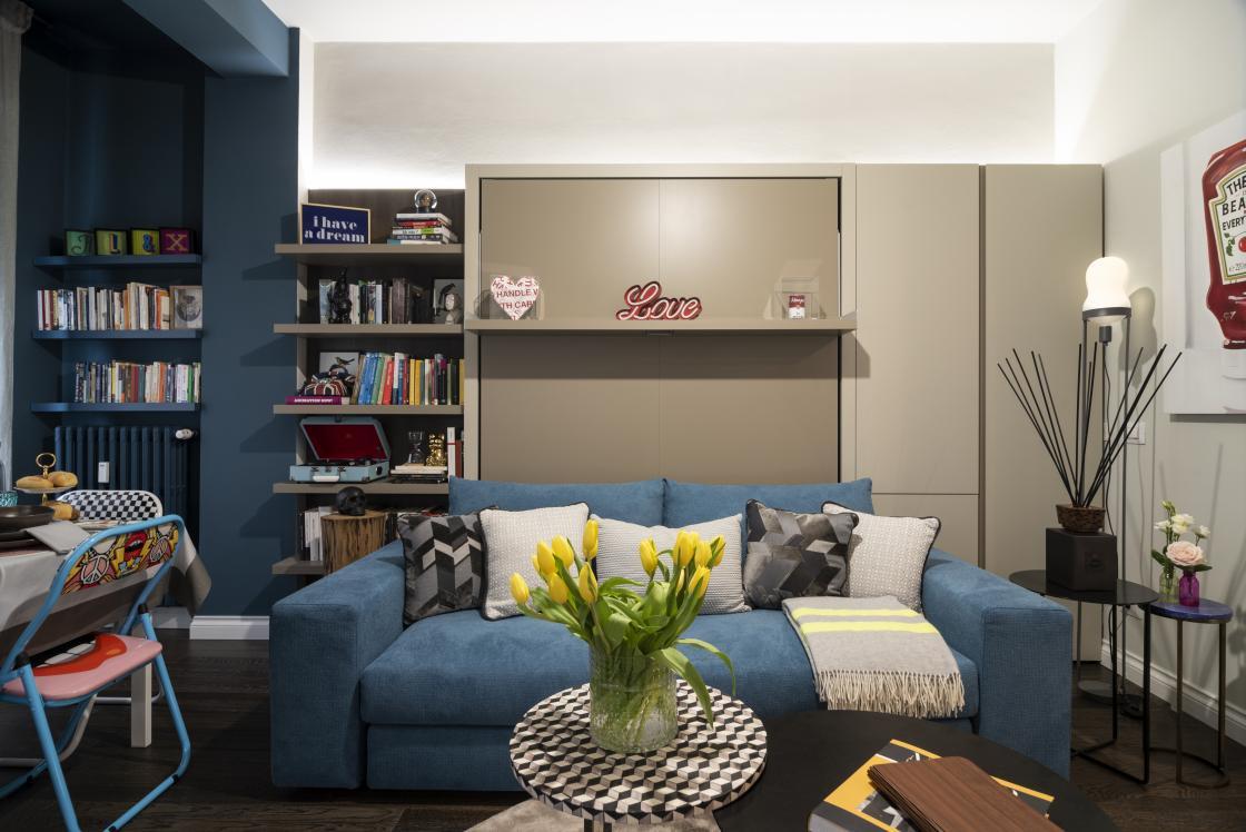 Arredare Camera Ospiti come ricavare una camera degli ospiti in soggiorno | clei