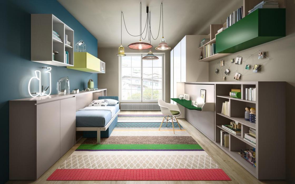 Come arredare una camera per ragazzi stretta e lunga | Clei