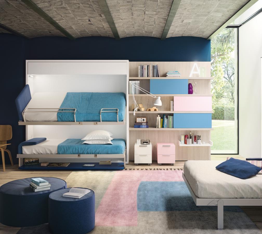 Idee per arredare una camera da letto per 3 bambini   Clei