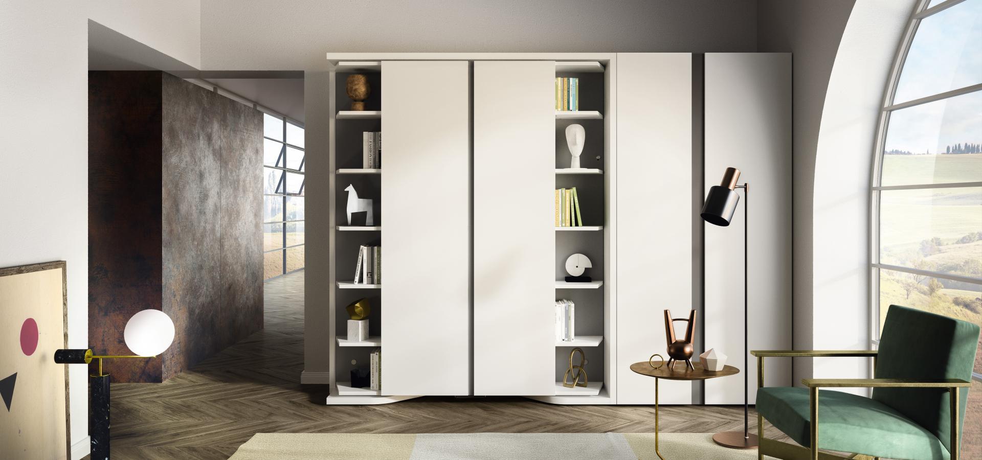 Libreria con letto matrimoniale LGM   Clei