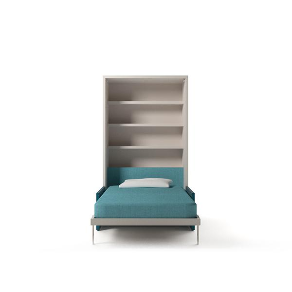 Single wall bed with bookshelves Altea Sofa