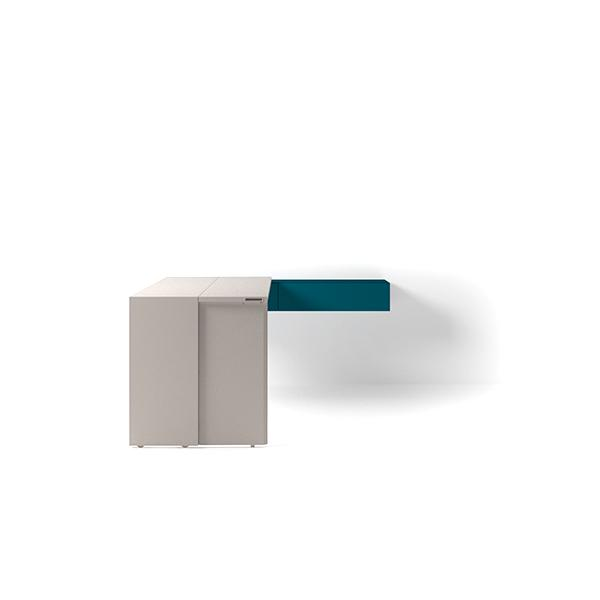 Girò Table with bifold opening system
