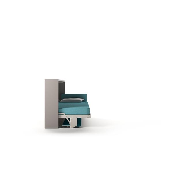 Kali Board 120 horizontal wall single bed with desk
