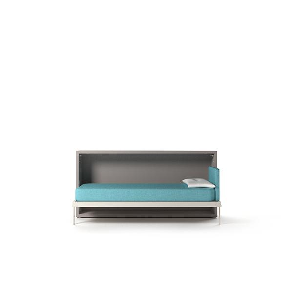 Kali Standard Foldaway guest single bed with fold-down opening mechanism