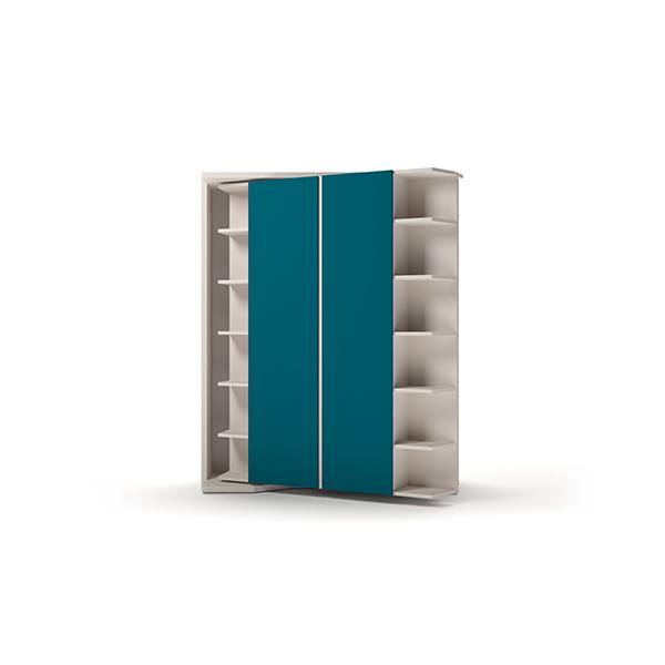 LGM transformable bookcase with double bed