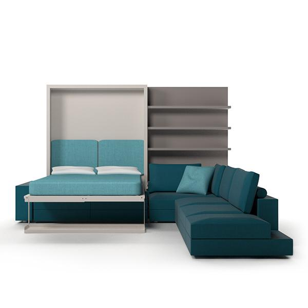 Tango Componibile transformable bed with sofa and bookcase