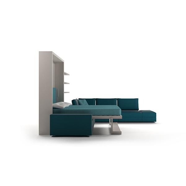 Tango Componibile transformable bed with bookcase